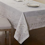 Big Size Embroidery Linen Tablecloths Square Table Cloth 175x175cm