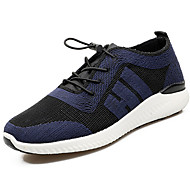 お買い得  ウォーキング-男性用 靴 チュール 春 秋 アスレチック・シューズ ウォーキング コンビ のために ブラック シルバー ダークブルー