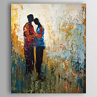 Maalattu Abstrakti Pysty,Abstrakti 1 paneeli Kanvas Hang-Painted öljymaalaus For Kodinsisustus