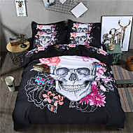 Duvet Cover Sets 3D(random pattern) 3 Piece Reactive Print 3pcs (1 Duvet Cover, 2 Shams) (If Twin size, only 1 Sham or Pillowcase)