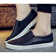 Dames Sneakers Comfortabel PU Lente Causaal Comfortabel Wit Zwart Plat