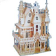 hesapli Modeller ve Model Kitleri-3D Yapbozlar Yapboz Ahşap Modeller Modely Kale Ünlü Binası Tahta Doğal Ahşap Yetişkin Unisex Hediye