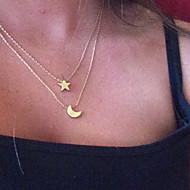 Dame Halskædevedhæng Stjerneformet MOON Legering Dobbeltlags Mode Euro-Amerikansk Smykker Til Daglig Afslappet