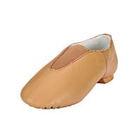 billige Jazz-sko-Dame Jazz-sko Lerret / Kunstlær Flate Flat hæl Kan spesialtilpasses Dansesko Svart / Brun / Ytelse
