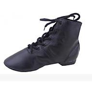 billige Jazz-sko-Dame Jazz Lær Flate Høye hæler Trening Hvit Svart Rød