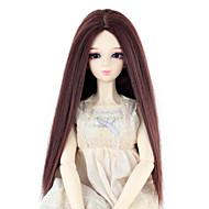 Naisten Synteettiset peruukit Suora Tumma kastanja Doll Wig puku Peruukit