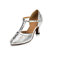 Dame Moderne Syntetisk Høye hæler Innendørs Stiletthæl Sølv 6 cm 7,5 cm