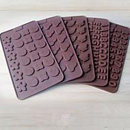 2 stykker kageforms nyhed kogegrej brød chokoladekage silicagelbageværktøj kreativ diy tilfældig farve