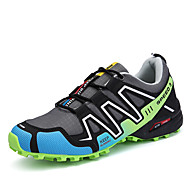 Men's Athletic Shoes Light Soles Spring Fall PU Running Shoes Casual Lace-up Flat Heel Gray Black/Red 2in-2 3/4in
