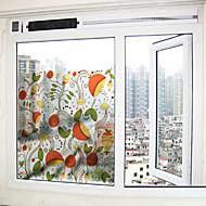 cheap Window Film & Stickers-Window Film Window Decals Style Colour Flower Grind Arenaceous PVC Window Film