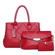 お買い得  バッグセット-女性用 バッグ PU バッグセット ジッパー のために フォーマル ルビーレッド / グレー / パープル