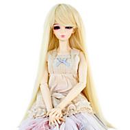 Naisten Synteettiset peruukit Suora Bleach Blonde Doll Wig puku Peruukit