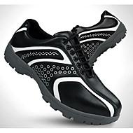 בגדי ריקוד גברים נעלי גולף Vibram גולף זמש עור פרה לבן שחור