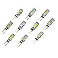 tanie Więcej Kupujesz, Więcej Oszczędzasz-10pcs 1.5W 85 lm G4 Żarówki LED bi-pin 9 Diody lED SMD 5050 Ciepła biel Biały DC 12V