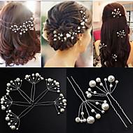 דמוי פנינה ביגוד לראש / כלי שיער / פין שיער עם פרחוני 1pc חתונה / אירוע מיוחד / יוֹם הַשָׁנָה כיסוי ראש
