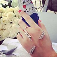 Women's Rhinestone Jewelry Set - Unique Design / Adjustable / Simple Style Irregular / Wings / Feather Silver Cuff Bracelet / Cuff Ring