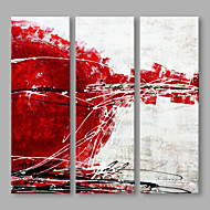 billiga Oljemålningar-Hang målad oljemålning HANDMÅLAD - Abstrakt Artistisk Duk / Sträckt kanfas