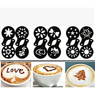 12pcs plástico extravagante café fazendo impressão modelo minimalista design pó