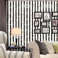 billige Tapet-Stripet Art Deco Prikker Hjem Dekor Moderne / Nutidig Tapetsering, Pvc / Vinyl Materiale Selvklebende bakgrunns, Tapet