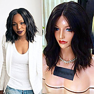 8A Grade Short Lace Front Human Hair Wigs Body Wave with Baby Hair 130% Density Peruvian Virgin Hair Bob Wig for Black Woman