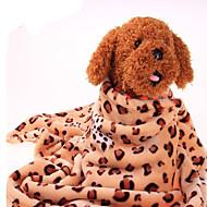Hund Senger Kæledyr Tepper Leopard Varm Bærbar Dobbelt Sidet Myk Leopard