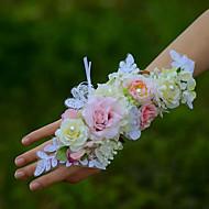 "billiga Brudbuketter-Brudbuketter Handleds Corsage Bröllop Cotton 1.97""(ca. 5cm)"