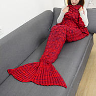 cheap -Emergency Blanket Blanket Travel Blanket Casual/Daily Mermaid