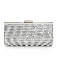 billiga Kvälls-handväska-Dam Väskor Glas / Plast / Polyester Aftonväska Strass / Kristall / Glitter Silver / Bröllopsväskor
