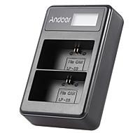 Andoer® lp-e6 afișaj led-uri reîncărcabile litiu-ion încărcător pachet kit 2-slot USB cablu pentru canon eos 6d 7d 70d 60d 5d marca iii