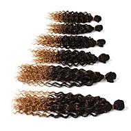Tranças Encaracoladas Tranças de Cabelo Encaracolado Jheri Curl Cabelo 100% Kanekalon Preto / louro da morango Preto / Medium Auburn