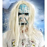 Halloween, rosto cheio, horror, máscara, máscara, disfarce, fantasia, festa, movimento, tema, vestido, viu, máscara, rosto, capuz