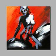 Handgeschilderde Mensen Modern Eén paneel Canvas Hang-geschilderd olieverfschilderij For Huisdecoratie