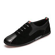 cheap Men's Slip-ons & Loafers-Men's Shoes Fabric Spring / Fall Moccasin / Comfort Loafers & Slip-Ons Black / Red