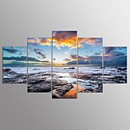 ieftine Reduceri-Imprimeu pânză întins Abstract,Cinci Panouri Canava Orizontal Imprimeu Decor de perete For Pagina de decorare
