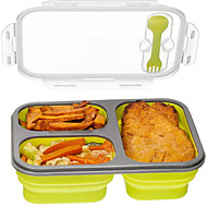1Pcs  Silicone Collapsible Portable Lunch Box Bowl Bento Boxes Folding Food Storage Container Lunchbox Eco-Friendly