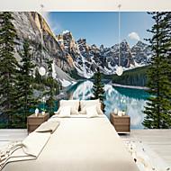 billige Tapet-Tre Natur og landskap Nautisk Hjem Dekor Vintage Tapetsering, Lerret Materiale selvklebende nødvendig Veggmaleri, Tapet