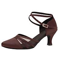 """billige Moderne sko-Dame Moderne Silke Sandaler Ytelse Kryssdrapering Kubansk hæl kaffe 2 """"- 2 3/4"""" Kan spesialtilpasses"""