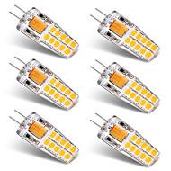 billige Bi-pin lamper med LED-BRELONG® 6pcs 3W 300lm G4 LED-lamper med G-sokkel T 20 LED perler SMD 2835 Varm hvit Hvit 12V