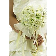 """cheap Wedding Flowers-Wedding Flowers Bouquets Wedding Organza Satin 12.2""""(Approx.31cm)"""