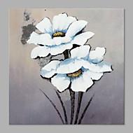 preiswerte Florale/Botansiche Gemälde-Handgemalte Blumenmuster/Botanisch Quadratisch, Künstlerisch Segeltuch Hang-Ölgemälde Haus Dekoration Ein Panel
