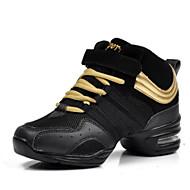baratos Sapatilhas de Dança-Mulheres Tênis de Dança Malha Respirável Salto Sapatos de Dança Dourado / Preto / Preto / Vermelho / Ensaio / Prática