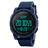 SKMEI Heren Sporthorloge Militair horloge Polshorloge Japans Digitaal Gewatteerd PU-leer Zwart / Blauw / Groen 50 m Waterbestendig Alarm Kalender Digitaal Modieus - Zwart Groen Blauw Twee jaar