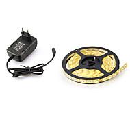 24W סרטי תאורת LED גמישים 45000 lm DC12 V 5 מ ' 300 נוריות לבן חמים לבן אדום צהוב כחול ירוק ורוד
