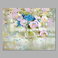 IARTS® Hand Painted Modern Abstract Pure Pretty White Flowers on Canvas with Stretched Frame Handmade Oil Painting For Home Decoration Ready To Hang