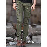 Bărbați Zvelt Simplu Talie Medie,strenchy Pantaloni Chinos Pantaloni Mată