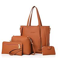 Mulher Bolsas Todas as Estações Outros Tipos de Couro Conjuntos de saco Conjunto de bolsa de 4 pcs para Preto Vermelho Rosa Cinzento