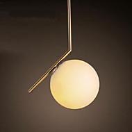 Simples vidro de ferro esfera nordic nordic lustre