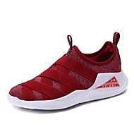 נשים נעליים ללא שרוכים נוחות סוליות מוארות בד אביב קיץ קזו'אל ריצה עקב שטוח שחור אדום ירוק כחול שטוח