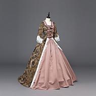 Rococo Victoriaans Kostuum Punk Dames Jurken Feestkostuum Gemaskerd Bal Roze Vintage Cosplay Satiini Feest Schoolfeest Lange mouw Tot de grond Baljurk