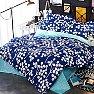 cheap Contemporary Duvet Covers-Floral/Botanical 4 Piece Cotton Cotton 1pc Duvet Cover 2pcs Shams 1pc Flat Sheet
